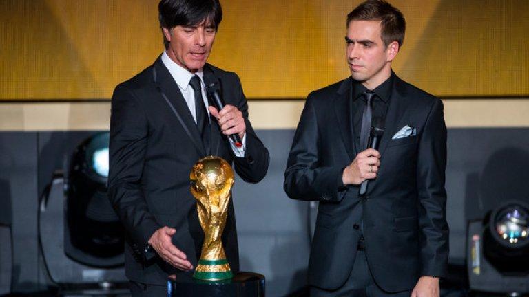 Филип Лам – 5 (2006, 08, 12, 13, 14), Байерн (Мюнхен) и Германия Номиниран цели 10 пъти, с един по-малко само от рекордьора Кристиано Роналдо, Лам е един от най-постоянните играчи във футболна Европа в последните 20-ина години.