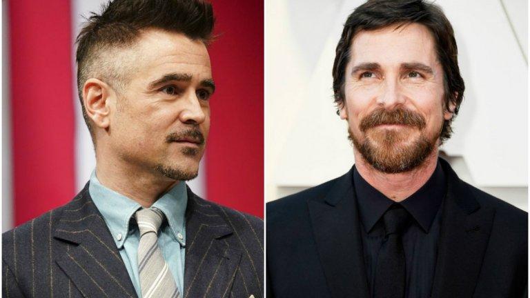 """Двамата актьори, които и преди са играли във филми по комикси, са поели отново към този тип кино. Фарел (вляво) със сигурност, докато Бейл все още е на фаза """"преговори""""."""
