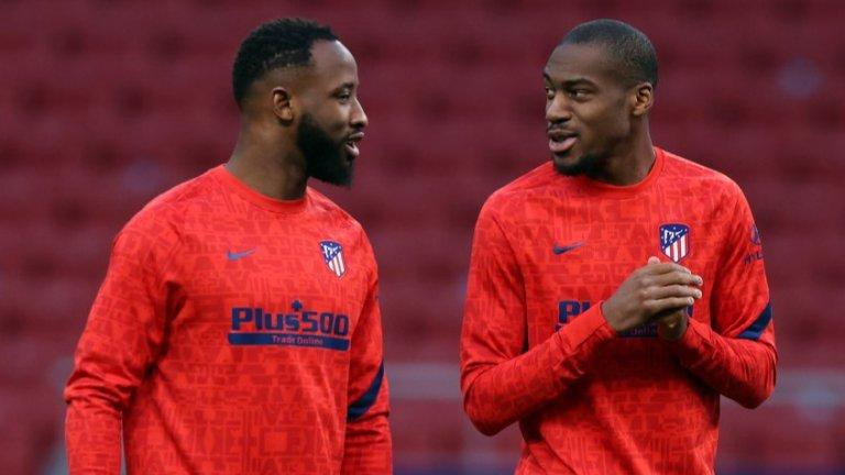 Муса Дебемеле (вляво) има изиграни едва 42 минути в Ла Лига, откакто пристигна в Мадрид като отдаден под наем от Лион през януари.