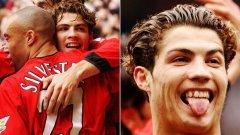 Роналдо пристигна в Юнайтед през 2003 година като къдрокосно и пъпчиво момче, след което се превърна в един от най-великите футболисти в историята