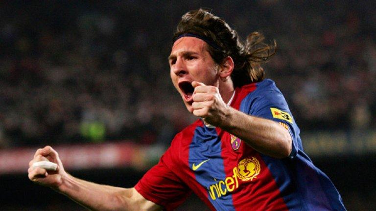 """Лионел Меси още бе изгряваща звезда, но още през 2009-а показа на Реал какво да очаква от него, след като вкара два и изработи още два гола за каталунците. """"Бернабеу"""" ръкопляска на нисичкия аржентинец."""