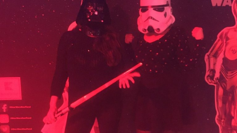 Зузи като щурмовак (Stormtrooper) на събитието на Kaufland.