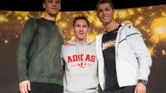 """Нойер, Меси и Роналдо - претендентите за """"Златната топка"""" за 2014-а. И тримата попадат в тази класация, а Роналдо е двоен рекордьор в нея..."""