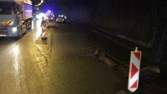 """След инцидента в тунел """"Ечемишка"""", при който загина жена, участък от магистралата е затворен за неопределено време"""