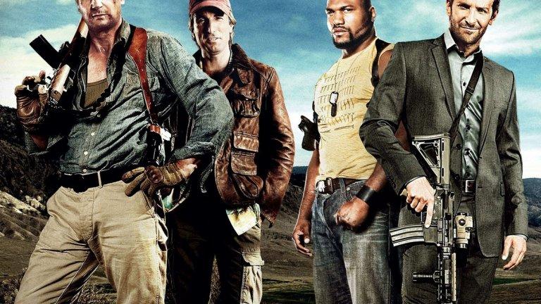 """През 2010 г. същата история е разказана в игрален филм. A-Team е екшън с доста солиден актьорски състав - Лиъм Нийсън, Брадли Купър, Шарлто Коплей, Джесика Бийл и ММА боеца Куинтън """"Рампейдж"""" Джаксън. Те обаче не се оказват достатъчни, за да превърнат филма в успех. Може би за тези над 20 години идеята за самотните войници, опитващи да докажат невинността си, вече е загубила своя чар."""