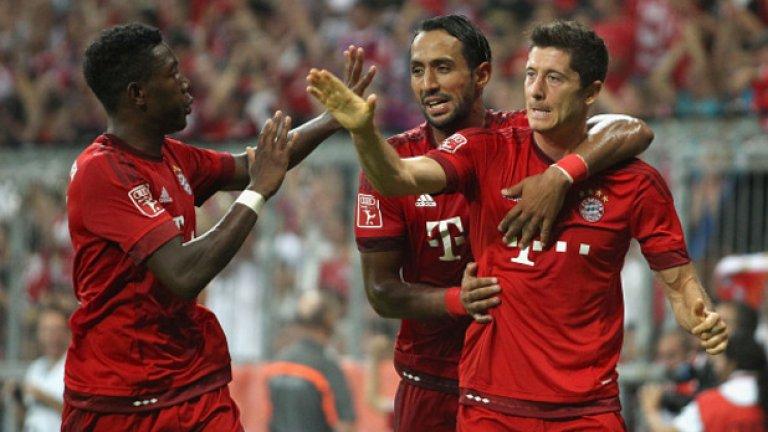 Дейвид Алаба, Байерн Мюнхен Отбеляза невероятен гол във вратата на Арсенал.