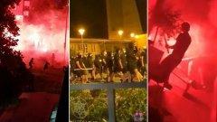 Хулигани на Динамо и Легия оплискаха Загреб с кръв (видео)