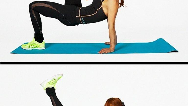 Упражнение за корем и бедра.