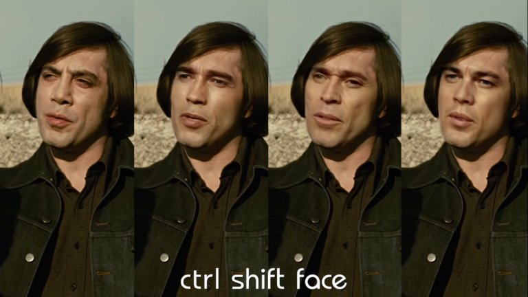 """За """"Няма място за старите кучета"""" Ctrl Shift Face предлага не една, а цели 3 алтернативи за ролята на психопата убиец Антон Чигър - Арнолд Шварценегер, Уилям Дефо и Леонардо ди Каприо"""
