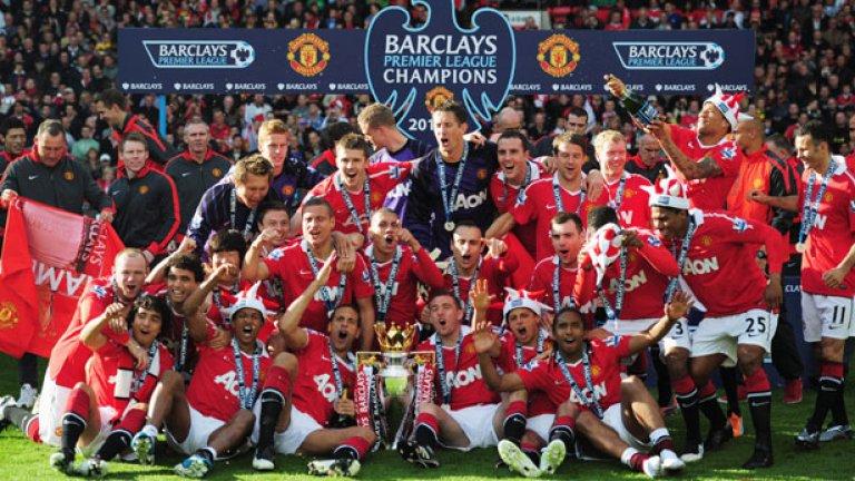 Манчестър Юнайтед остави зад себе си Ливърпул, ставайки за рекорден 19-и път шампион на Англия