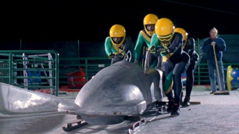 """""""Леден болид"""" Трогателен, забавен и очарователен, филмът за отбора на Ямайка по бобслей е повече измислица, отколкото реалност. Макар наистина да има такъв отбор по бобслей, който участва в Зимните олимпийски игри през 1988 г., той не е съставен от бивши спринтьори.   Всъщност двама от състезателите дори са взети назаем от армията на страната. Освен това, макар да е основен момент във филма, повечето отбори се отнасят доста мило с ямайския отбор и дори им заемат резервни части. Колкото до култовия финиш с бобслея на ръце, в действителност нещата далеч не са толкова героични."""