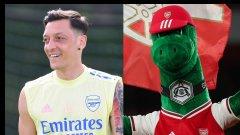 Йозил спасява талисмана на Арсенал от уволнение със страхотен жест