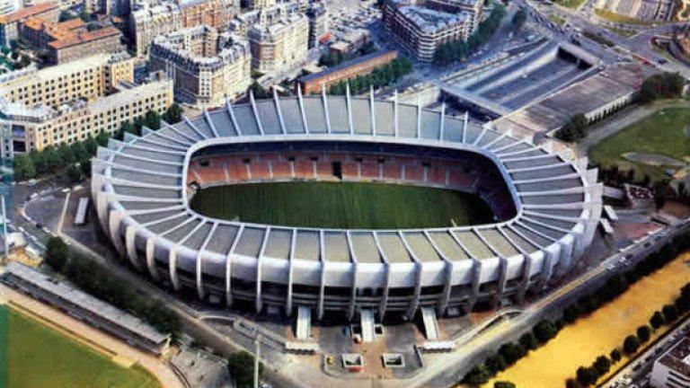 """""""Парк де Пренс"""" е домашният стадион на ПСЖ. Капацитетът му е 47 000 зрители. В груповата фаза там ще са мачовете Турция – Хърватия (12 юни), Румъния – Швейцария (15 юни), Португалия - Австрия (18 юни) и С. Ирландия – Германия (21 юни)."""