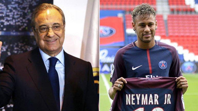 """Намекът на Флорентино Перес: Неймар ще спечели по-лесно """"Златната топка"""", ако е в Реал"""
