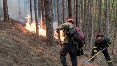 Пожарът в Кресненското дефиле е пред погасяване