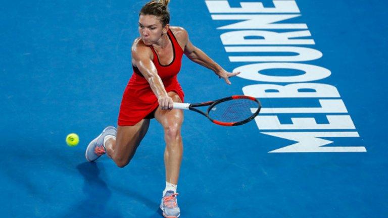 В Шънджън и на Australian Open Халеп игра с екип без лого.