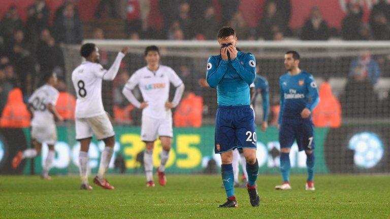 След като победи Ливърпул, Суонзи удари и Арсенал