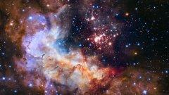 """Звездният клъстер Westerlund 2, видян през """"Хъбъл"""". Вижте в галерията някои от най-внушителните космически явления, достигнали до нас благодарение на орбиталния телескоп."""
