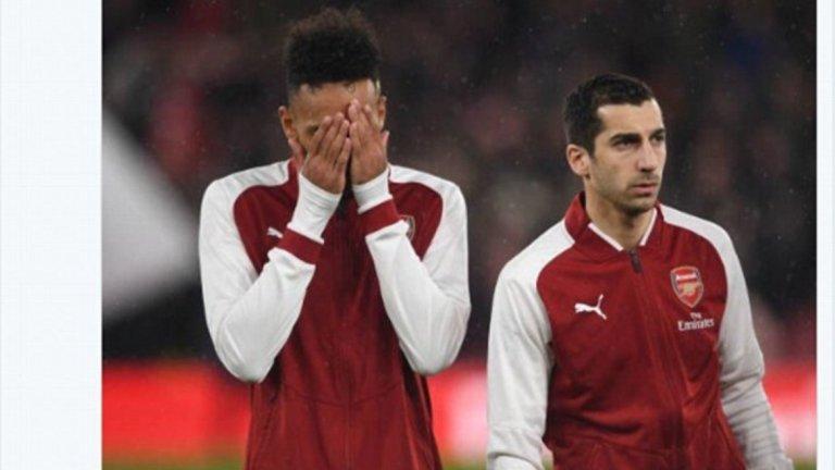 """4. Арсенал е в най-лоша форма от цялата Висша лига  От началото на 2018 г. Арсенал има осем загуби във всички турнири - повече от всеки друг отбор от Премиършип. """"Топчиите"""" загубиха пет от последните си шест срещи, а Арсен Венгер има толкова загуби за първенство през сезона (10), колкото Жозе Моуриньо има общо откакто беше назначен за мениджър на Манчестър Юнайтед през лятото на 2016 г."""