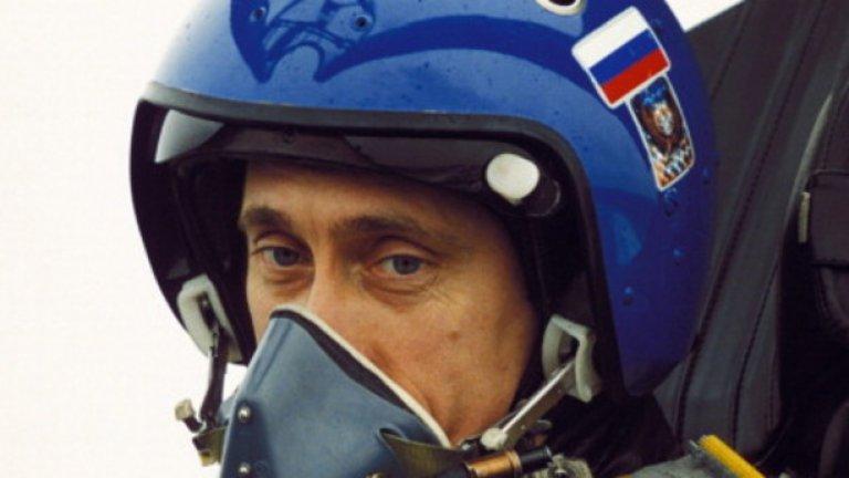 А понякога Путин не се двоуми да седне в пилотската кабина