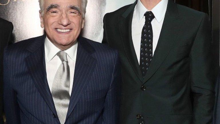 Мартин Скорсезе и един от главните герои Андрю Гарфийлд.