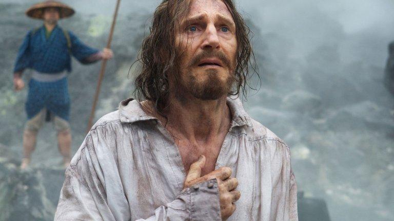 """Ватиканът също така е """"киноманско местенце"""", а сред прожектираните филми там са продукции като """"Страстите Христови"""" на Мел Гибсън и """"Мълчание"""" на Мартин Скорсезе (на снимката: Лиъм Нийсън в кадър от филма)."""