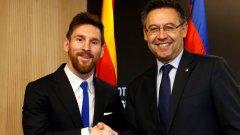 """Денят, в който Бартомеу се изпусна, че Меси може да напусне Барселона """"по всяко време"""""""