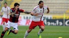 Златан Ибрахимович вкара дежурния си гол, но не помогна за повече от равенство срещу Болоня