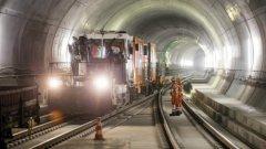 Строителството на тунела Готард