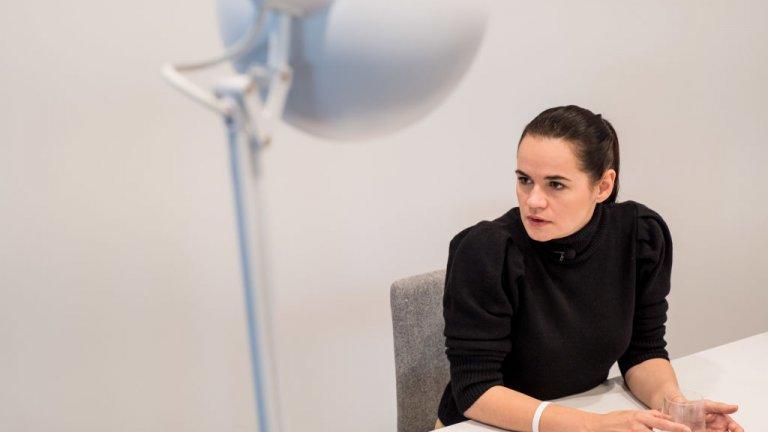 """Опозиционният лидер Светлана Тихановска е убедена, че протестното движение ще продължи, защото """"вече всичко се е променило""""."""