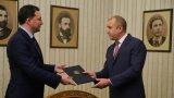 Президентът благодари на Даниел Митов за усилията и заяви, че се надява времето сега да бъде инвестирано в диалог между политическите сили