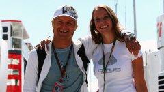 Хейки Ковалайнен и приятелката му Катерин Хайд, студент по спортна психология