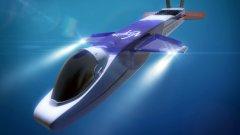"""В голяма степен подводницата изглежда като самолет, което спомага за по-лесния й """"полет"""" до подводните й дестинации"""