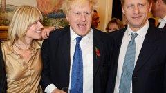 Рейчъл, Борис и Джо Джонсън - семейството, което също избягва да обсъжда Brexit по време на вечеря