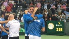 Успехът подпечата Федерико Делбонис с победа 6-3 6-4 6-2 над Иво Карлович, след като Хуан Мартин дел Потро вдъхнови южноамериканците по-рано през деня.