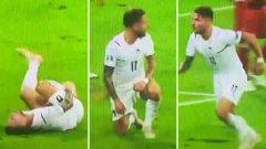 Подиграват Имобиле за чудотворното му възстановяване при първия гол на Италия (видео)