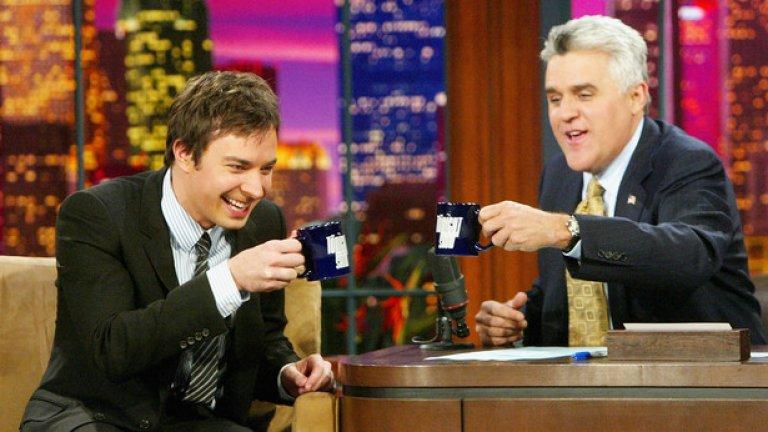 През 2004 г. Фалън гостува в шоуто на Джей Лено, а 10 години по-късно замени телевизионната легенда като водещ на предаването