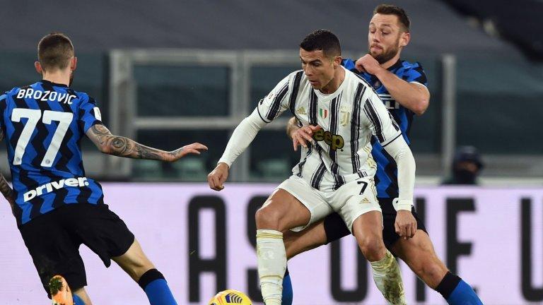 Този път Интер спря Роналдо, но Юве е на финал