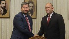 """Румен Радев се срещна с представители на """"Демократична България"""", ДПС и """"Изправи се БГ! Ние идваме"""""""