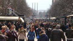 """Над 23% от направените тестове са положителни (на снимката: булевард """"Витоша"""" в София на 13 март)"""