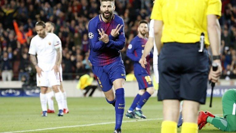 Централен защитник: Жерар Пике Въпреки вече на 32, Пике продължава да се бори за всяка топка, понякога дори да бъде и последна преграда пред гола, след като вратарят вече е бил преодолян. Колега в защитата на Рамос в националния отбор при спечелването на световната титла и втората от двете поредни европейски корони, Пике бе неизменна част от състава на Барселона, който спечели седем титли от 2010-а насам. Вече мисли сериозно и за времето си след футбола и започна да се изявява като бизнесмен, а според много, рано или късно, ще бъде избран за президент на Барса.