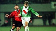 По времето на Трифон Иванов Рапид (Виена) игра в Шампионската лига с Манчестър Юнайтед на Ерик Кантона