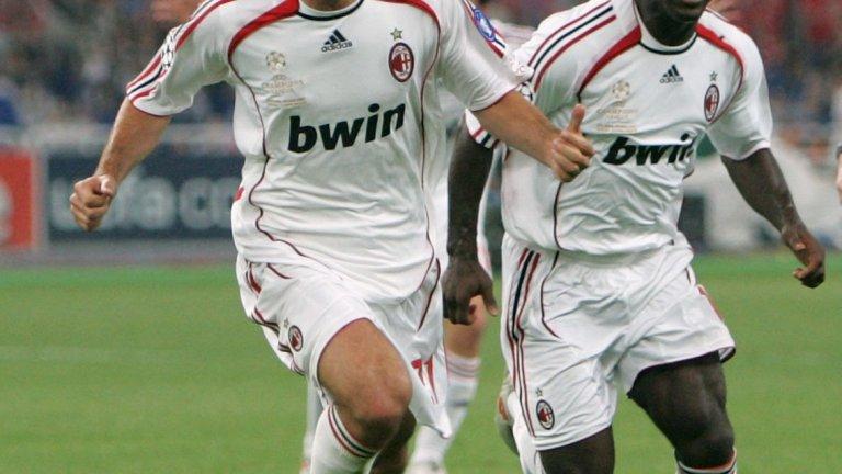 """Отмъщението срещу Ливърпул и спечелването на Шампионската лига през 2007 г.  Милан си върна на Ливърпул за онзи обрат в Истанбул и Пирло успя да вземе личен реванш. Изпълнен от него пряк свободен удар се отклони в Индзаги за 1:0 и накрая """"росонерите"""" вдигнаха купата."""