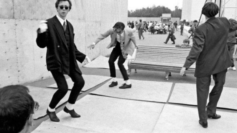 """""""Стиляги"""" танцуват в Москва през 1959 година"""