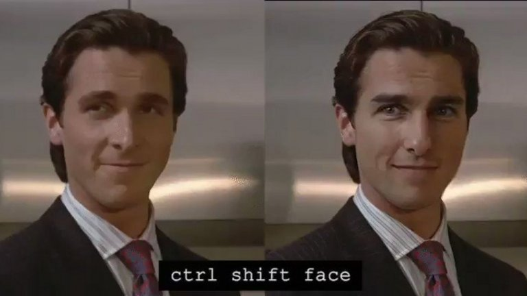 """Ctrl Shift Face успешно ни помага да си представим как би изглеждал даден филм с друг актьор в главната роля - например как щеше да изглежда """"Американски психар"""", ако  вместо Крисчън Бейл за главната роля бяха взели Том Круз..."""