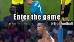 Спира за малко почивката си, влиза като резерва, вкарва гол, изкарва си червен картон и отново излиза във ваканция. Кристиано Роналдо!