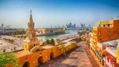 """През 1708 г. испанският галеон """"Сан Хосе"""" потъва край бреговете на колумбийския град Картахена (на снимката). Макар да беше открит през 2015-а, корабът, превозващ огромно богатство, все още не е изкаран на повърхността. Въпреки това претенции за богатството има от няколко различни места."""