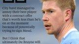 Манчестър Сити пренебрегва Де Бройне, за да събере пари за Меси