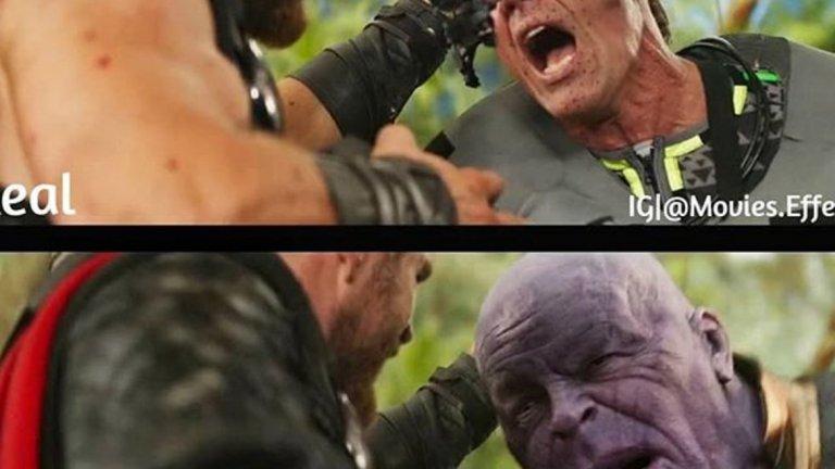 """""""Avengers: Infinity War"""" (2018) - преди и след специалните ефекти"""