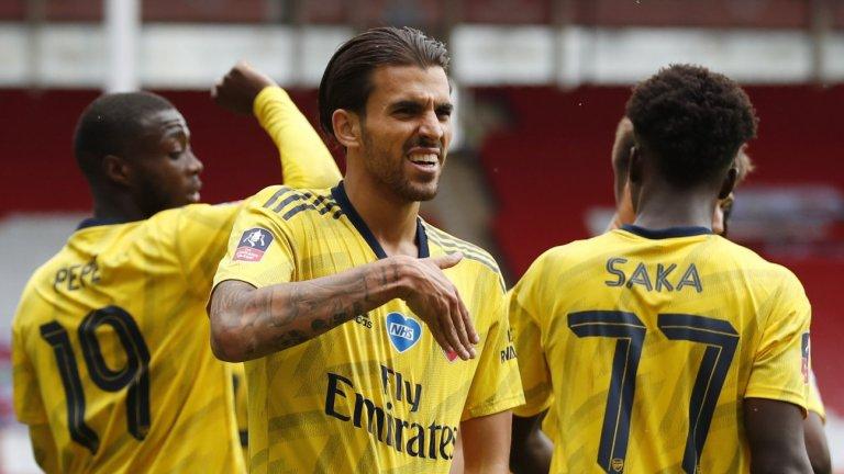 Късна драма прати Арсенал на полуфинал